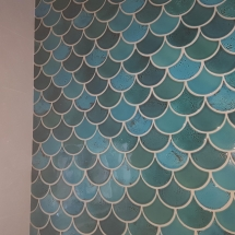 Cherry brook Fish Scale Wall